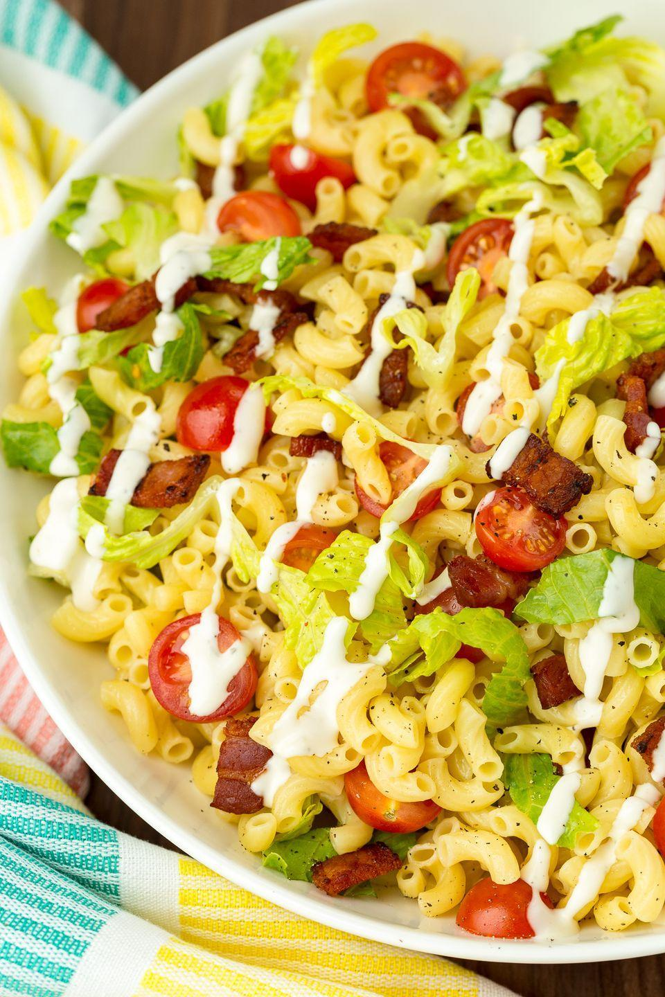 """<p>There's Ranch dressing in there.</p><p>Get the recipe from <a href=""""https://www.delish.com/cooking/recipe-ideas/recipes/a47222/blt-pasta-salad-trifle-recipe/"""" rel=""""nofollow noopener"""" target=""""_blank"""" data-ylk=""""slk:Delish"""" class=""""link rapid-noclick-resp"""">Delish</a>.</p>"""