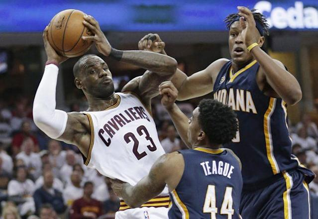 The Pacers play the Cavs in Game 2 Monday night. (AP)