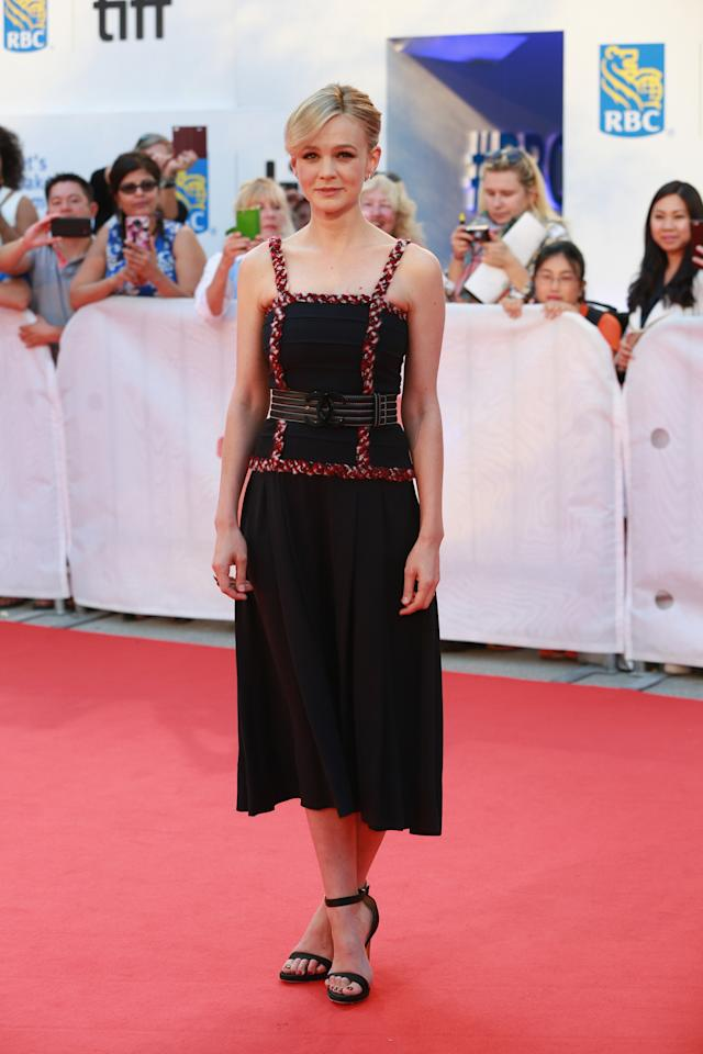 """<p>The actress stunned in Chanel on the """"Mudbound"""" red carpet — her first appearance since giving birth to baby no. 2! </p>"""