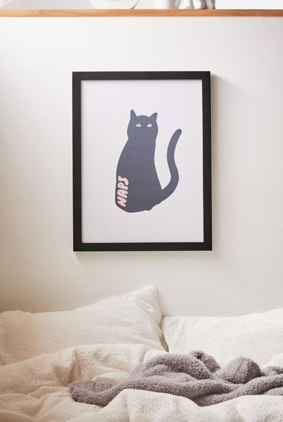 Phirst UO Exclusive Cat Naps Art Print (Photo via Urban Outfitters)