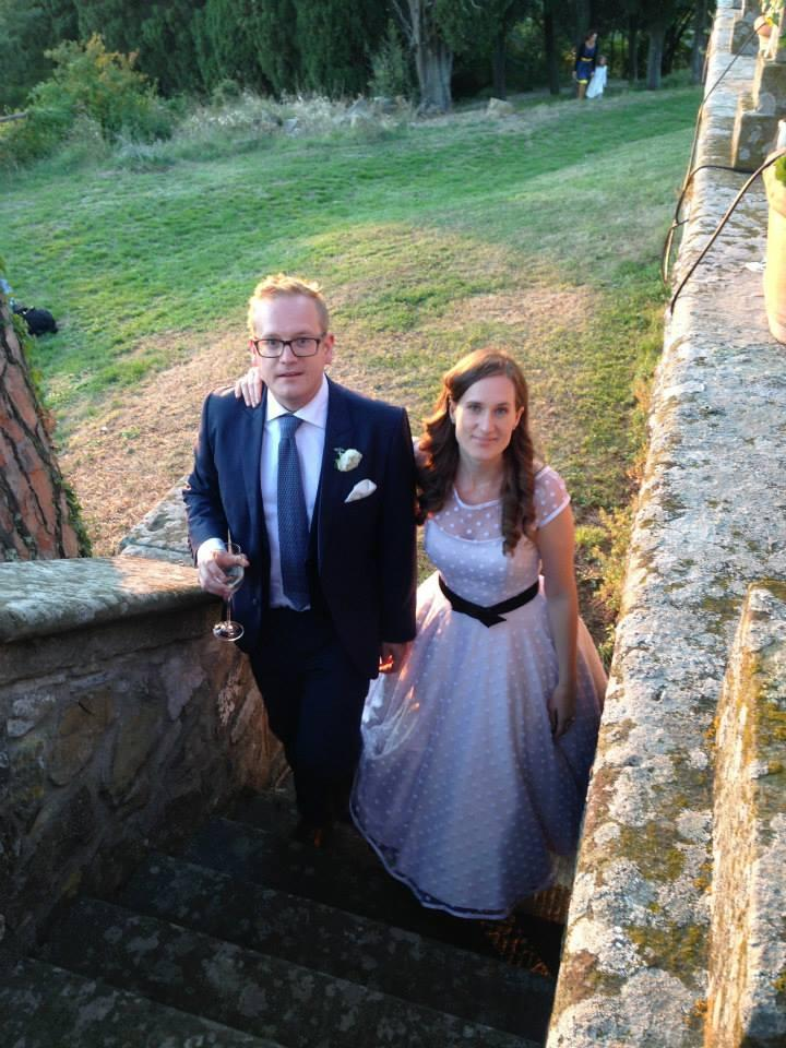 Alex Delaney and her husband Nic on their wedding day (supplied, Alex Delaney)