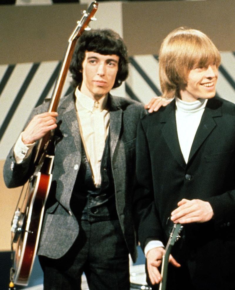 Bill Wyman and Brian Jones in 1965. (Photo: Michael Ward/Getty Images)
