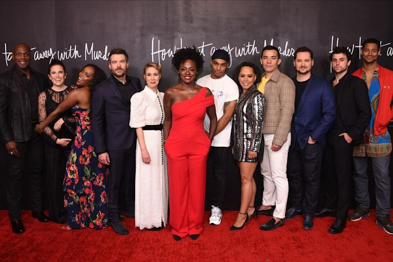 Viola Davis with cast of How to Get Away with Murder | Stewart Cook/ABC