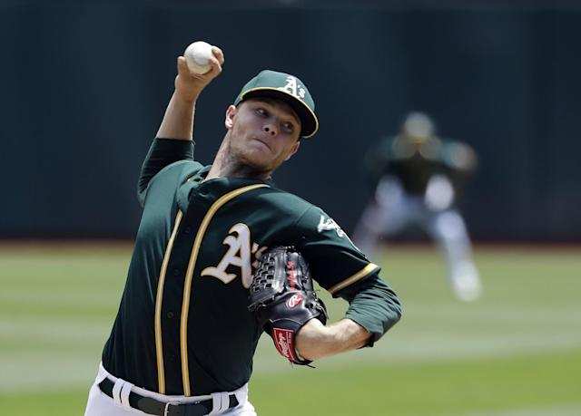 Pitcher Sonny Gray has been traded by the Oakland Athletics. (AP Images)
