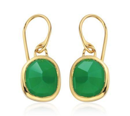 """<p><strong>Monica Vinader</strong></p><p>monicavinader.com</p><p><strong>£125.00</strong></p><p><a href=""""https://go.redirectingat.com?id=74968X1596630&url=https%3A%2F%2Fwww.monicavinader.com%2Fsiren-wire-earrings%2Fgold-vermeil-siren-wire-earrings-green-onyx%3Fsearch%3D%252Fshop%252Fearrings&sref=https%3A%2F%2Fwww.redbookmag.com%2Ffashion%2Fg34824874%2Fbest-jewelry-gift-ideas%2F"""" rel=""""nofollow noopener"""" target=""""_blank"""" data-ylk=""""slk:Shop Now"""" class=""""link rapid-noclick-resp"""">Shop Now</a></p><p>These green onyx Monica Vinader earrings can be dressed up or down. </p>"""