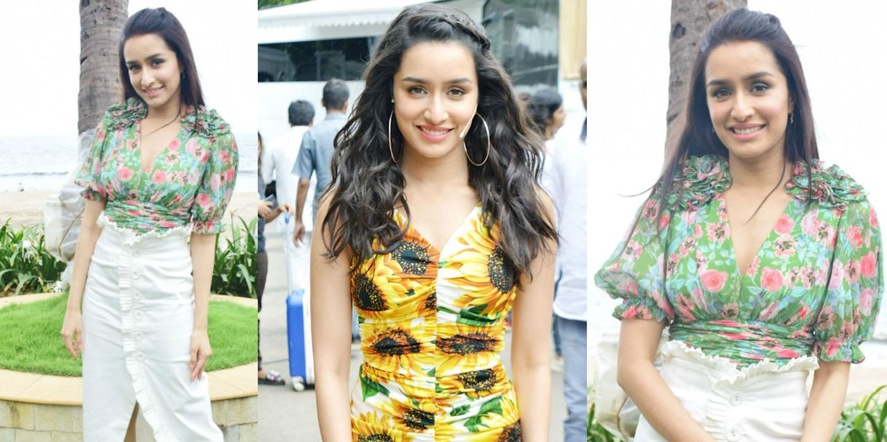 Shraddha Kapoor brings some floral freshness in this rainy weather
