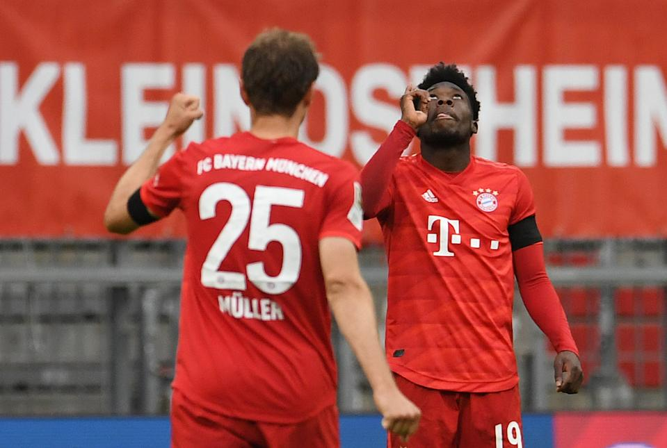 Thomas Muller (25) has starred for years with Bayern Munich, and the likes of Canadian teenager Alphonso Davies appear ready to take the baton. (REUTERS/Andreas Gebert/Pool)