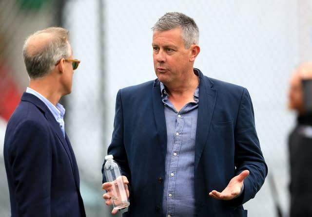 Giles (right) and national selector Ed Smith (left) have both helped choose players (Mike Egerton/PA)