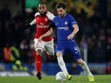 League Cup: Misfiring Chelsea held to goalless stalemate by Arsenal in semi-final first leg