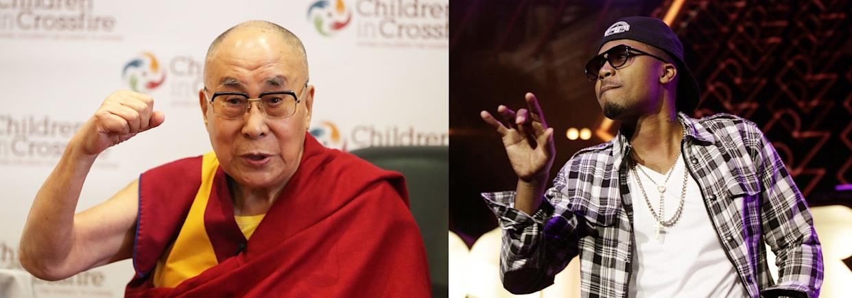 The Dalai Lama and the US rapper Nas have slightly different views on sleep (Niall Carson/Yui Mok/PA)