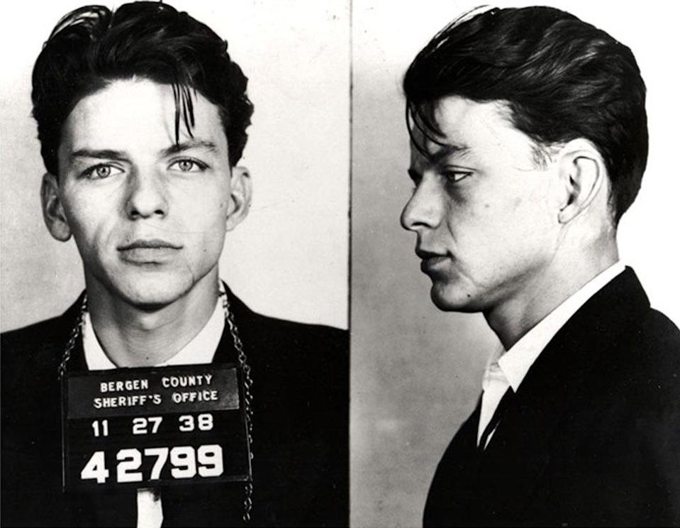 """Frank Sinatra In 1938 the legendary singer/actor was charged for """"carrying on with a married woman"""". Sounds fun!"""