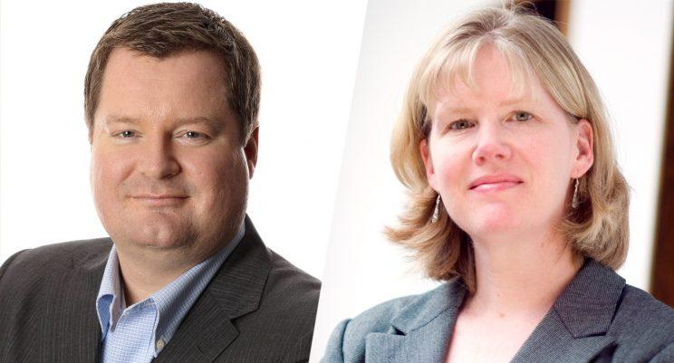 Erick Erickson and Jeannine Brown, PhD. (Photos: Courtesy of WSB Radio and Jeannine Brown)
