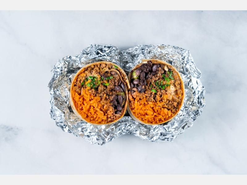 """Pablo's Spicy Beef"" from Burritos Locos in Westside Los Angeles."