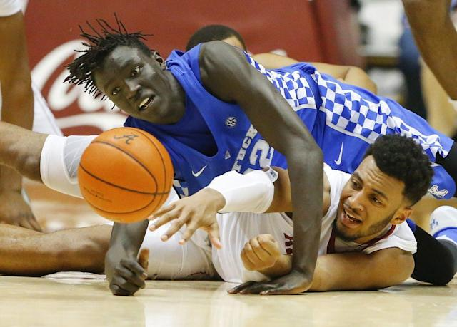 Wenyen Gabriel will likely be the only Kentucky rotation player returning next season. (AP)