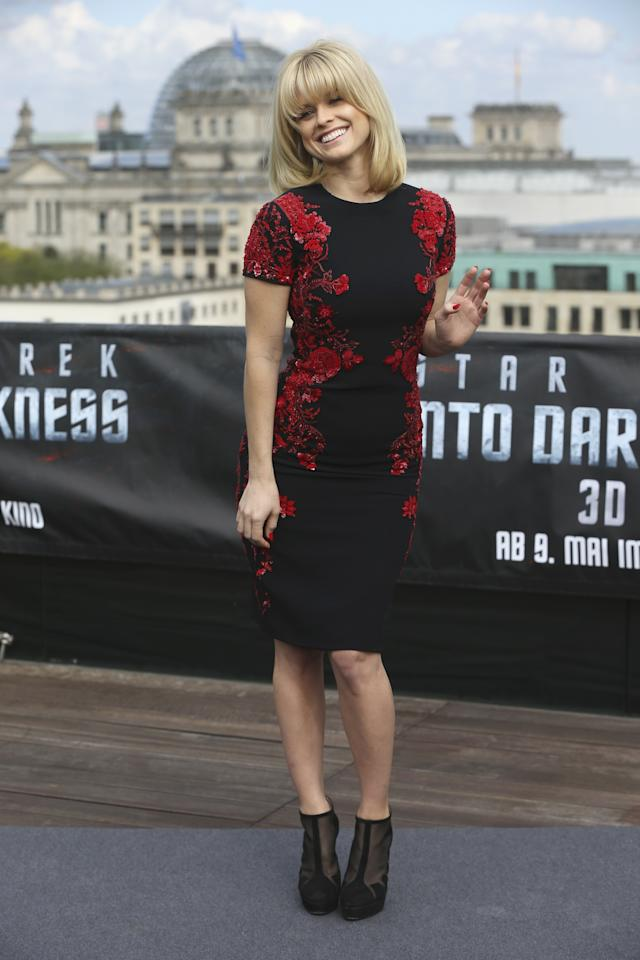 BERLIN, GERMANY - APRIL 28:  Actress Alice Eve attends the 'Star Trek Into Darkness' Photocall at China Club on April 28, 2013 in Berlin, Germany.  (Photo by Sean Gallup/Getty Images for Paramount Pictures)