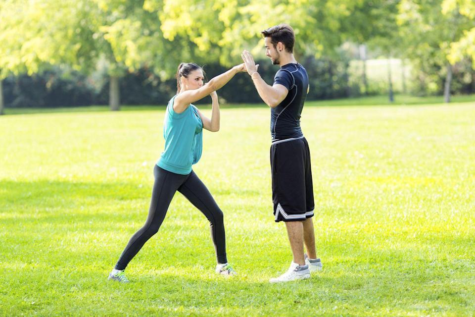 <p>Taekwondo, anyone? Check your local listings to see what's open and what's required. Then dive in with your date and do some sparring. </p>