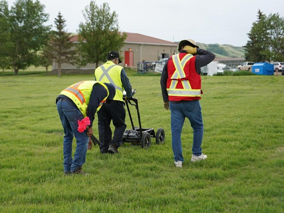 Cowessess First Nation used ground penetrating radar work to aide the community in locating more unmarked gravesites, Chief Cadmus Delorme told CBC News earlier in 2021. (Submitted by Cowessess First Nation - image credit)