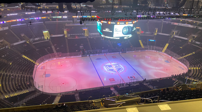 Staples Center before the final game of the Kings' 2019-20 season against the Ottawa Senators on March 11.