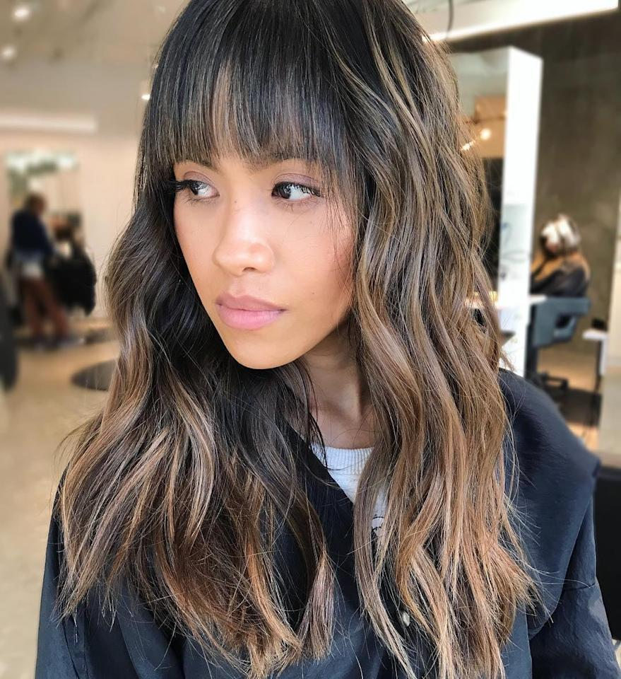 """<p>It doesn't matter your base color - the negative space technique works on all tones. """"It suits anyone who wants something modern and fresh, and works on hair that's bob-length and longer,"""" said Howard.</p>"""