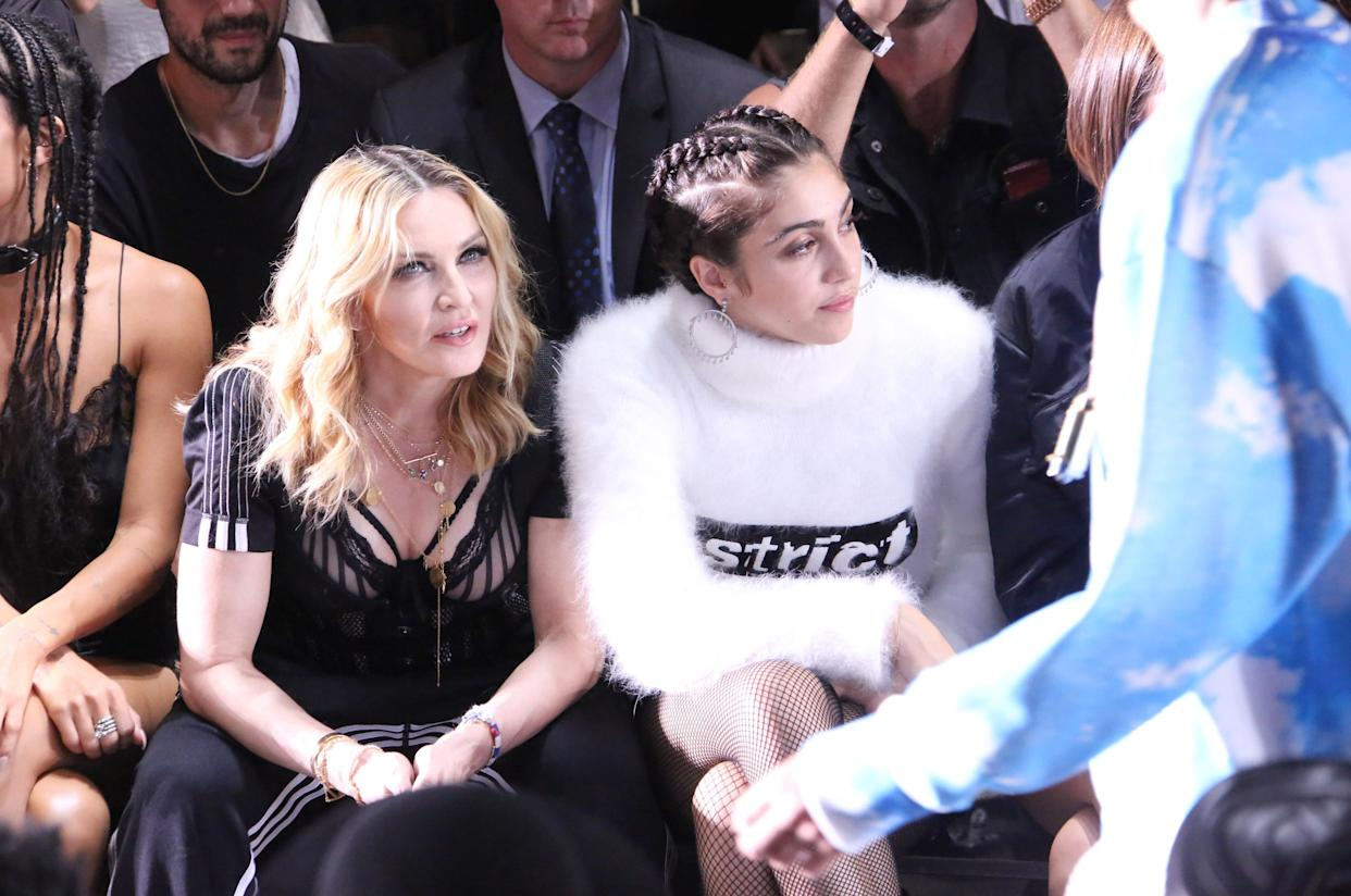 Madonna and Leon sat in the front row at Alexander Wang's Spring 2017 show. (Photo: Rex)