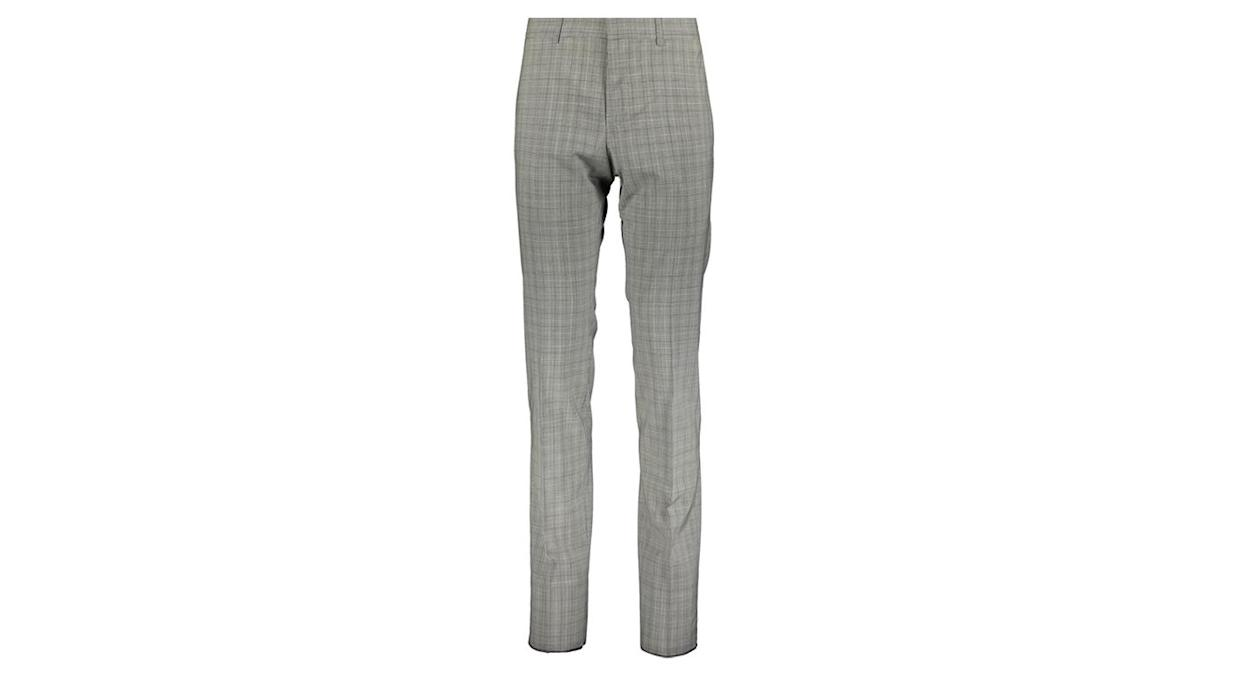 White & Black Checked Houndstooth Formal Trousers