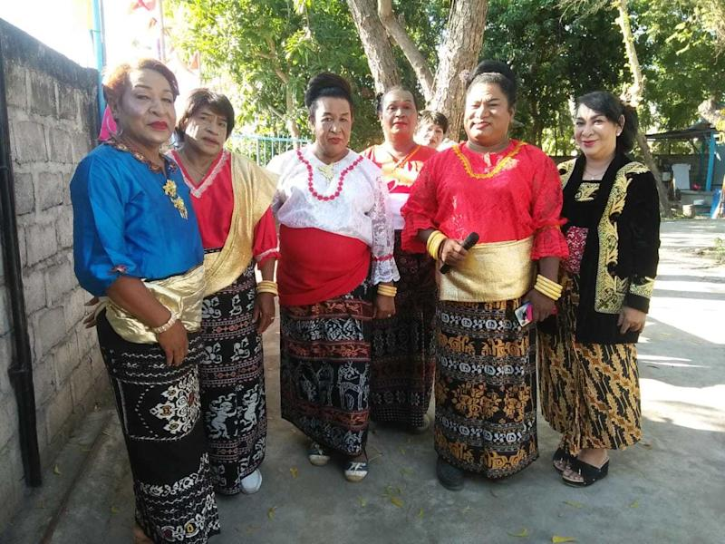 Hendrika Mayora Victoria Kelan (second from right) organized a transgender rights event last Indonesian Independence Day.