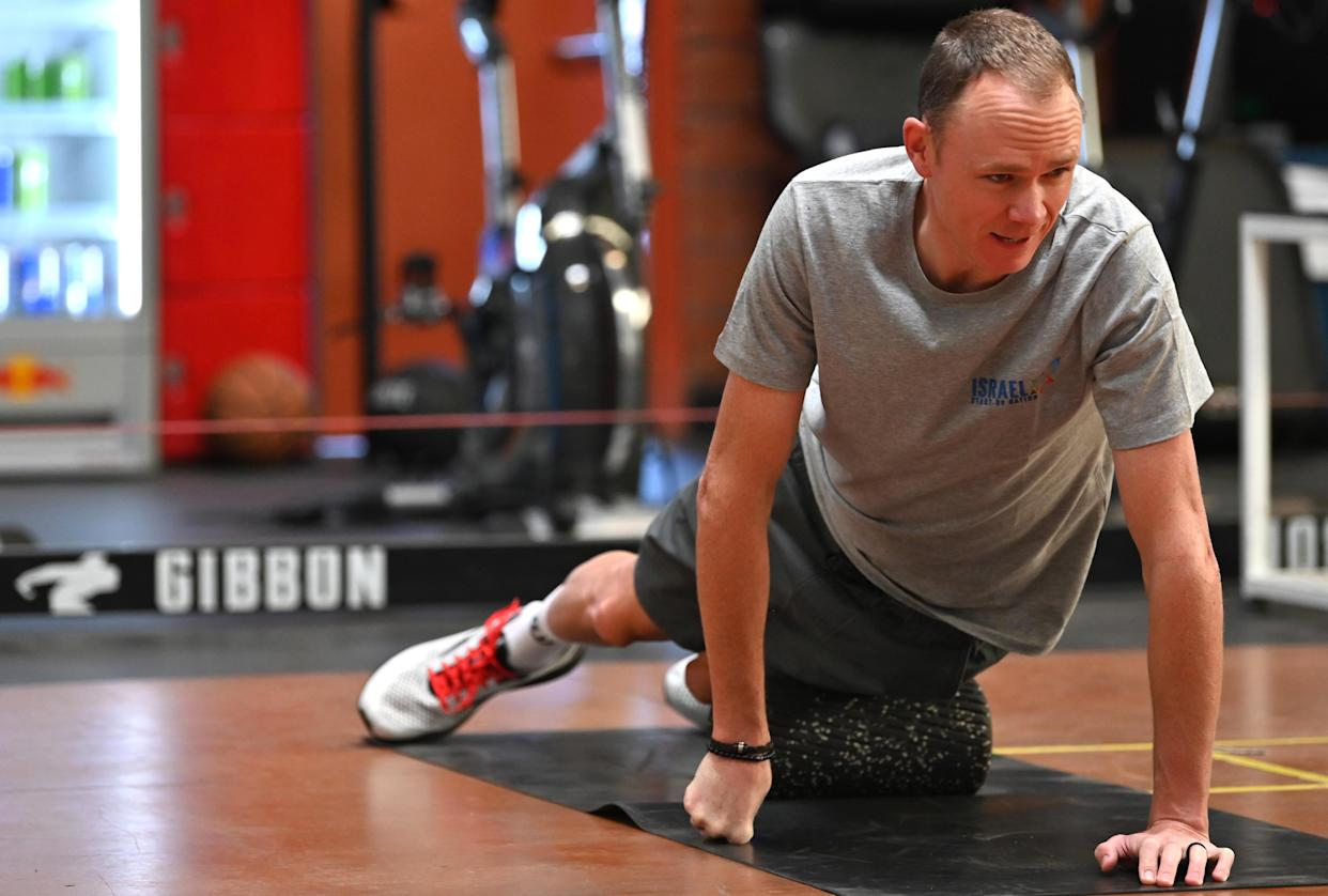 Chris Froome spent his winter continuing his rehabilitation in California (Israel Start-Up Nation handout)