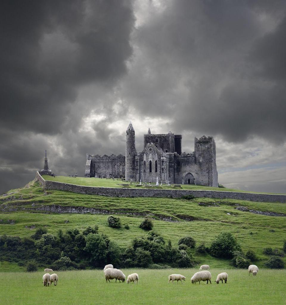 <p>Storm clouds roll in over the Rock of Cashel, which was once home to the Celtic Kings of Munster. Now, sheep gaze the front yard. Honestly, could a photo look anymore quintessentially Irish?</p>