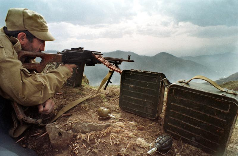 Nagorny Karabakh -- which is mostly inhabited by ethnic Armenians -- broke away from Azerbaijan with the help of Armenia in a war that claimed some 30,000 lives between 1991 and 1994 (AFP Photo/Alexander Nemenov)