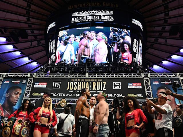 There will be no promotion or ring girls included in Andy Ruiz's rematch with Anthony Joshua: Getty