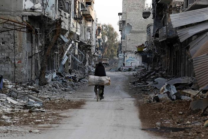 Fighting has eased across Syria since a landmark ceasefire between the regime and rebels took effect on February 27 (AFP Photo/Abdulmonam Eassa)