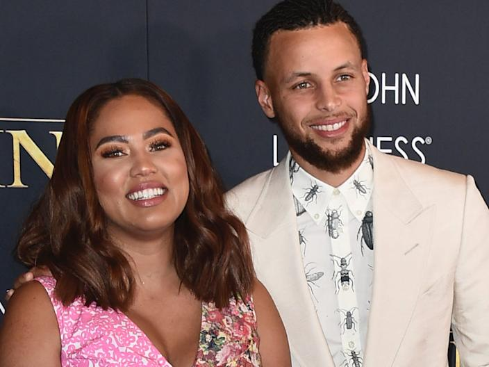 Ayesha Curry and Stephen Curry in July 2019.