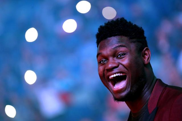 We should all be like a kid on Christmas whenever Zion Williamson makes his NBA debut. (Jonathan Bachman/Getty Images)