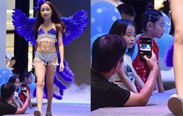 A children's fashion show in China is causing controversy.