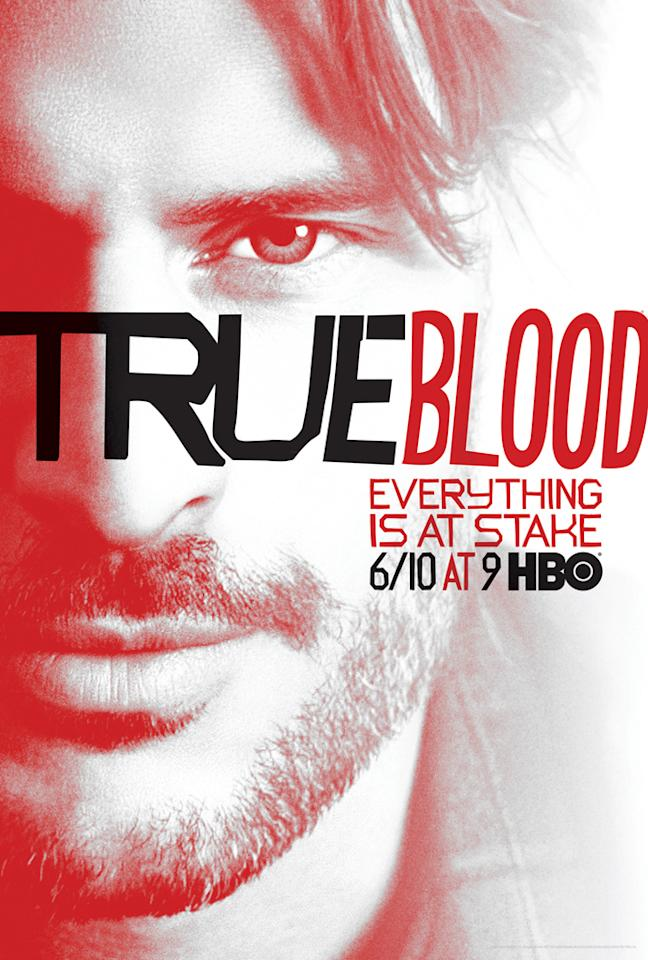 """True Blood"" Season 5 poster featuring Alcide Herveaux ( Joe Manganiello)"