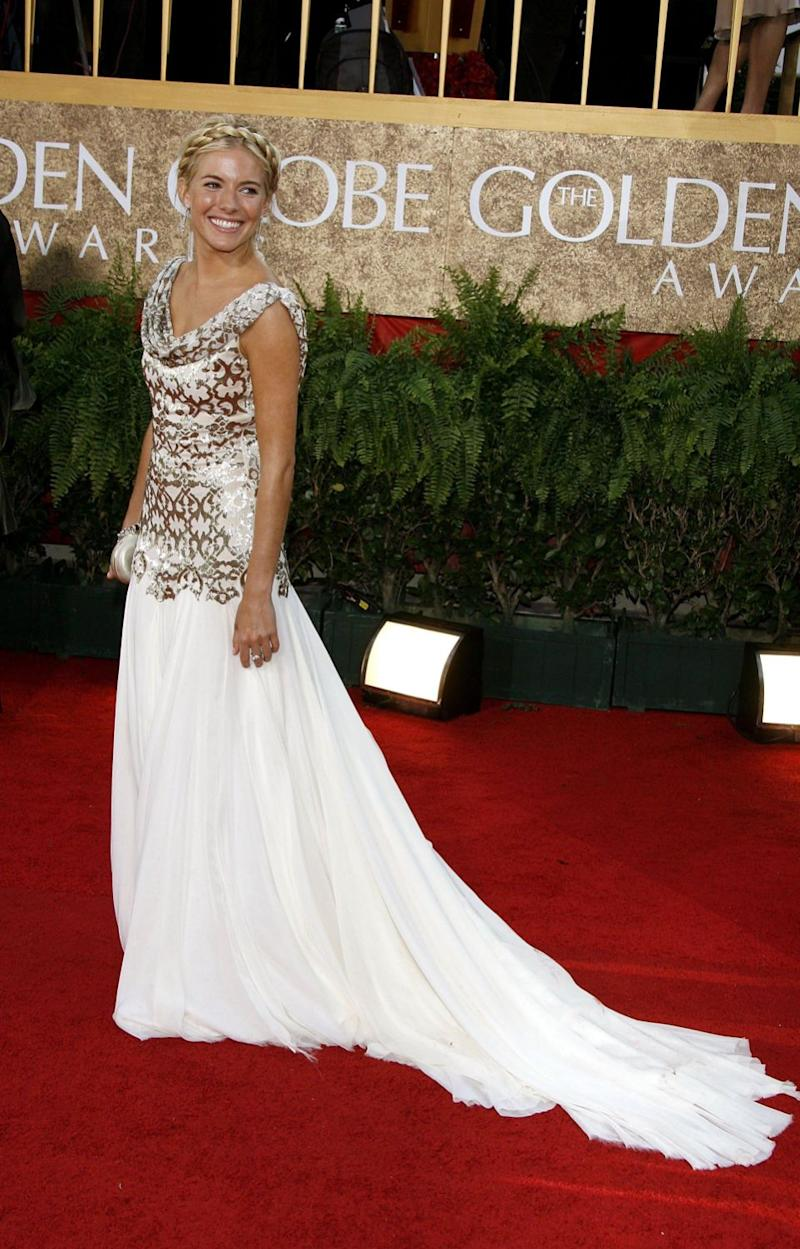 It's been claimed that Sienna Miller was told Harvey wouldn't be happy if she didn't wear Marches to the 2007 Golden Globes. Photo: Getty Images