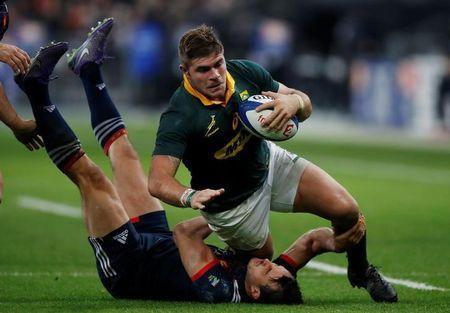 FILE PHOTO: Rugby Union - Autumn Internationals - France vs South Africa - Stade de France, Saint-Denis, France - November 18, 2017 South Africa's Malcolm Marx in action. REUTERS/Christian Hartmann
