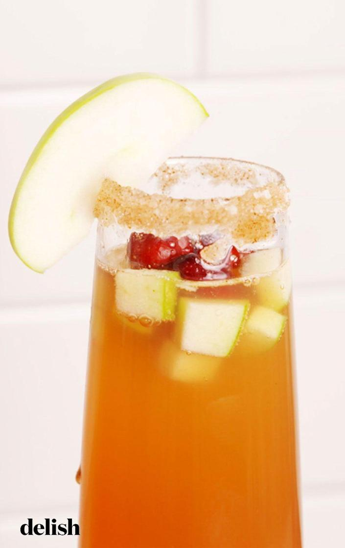 """<p>A must for Christmas morning. </p><p>Get the recipe from <a href=""""https://www.delish.com/cooking/recipe-ideas/recipes/a56720/harvest-mimosas-recipe/"""" rel=""""nofollow noopener"""" target=""""_blank"""" data-ylk=""""slk:Delish"""" class=""""link rapid-noclick-resp"""">Delish</a>. </p>"""