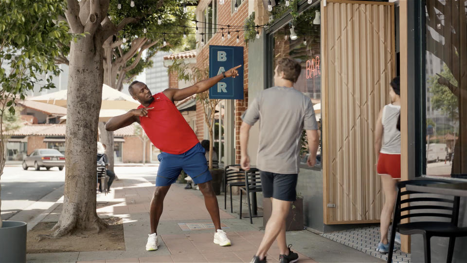 Your next beer is on the world's fastest man Usain Bolt. (Photo by Michelob ULTRA)