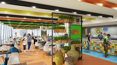 A rendering of the El Loco Fresh, a new Mexican dining venue on board Symphony of the Seas