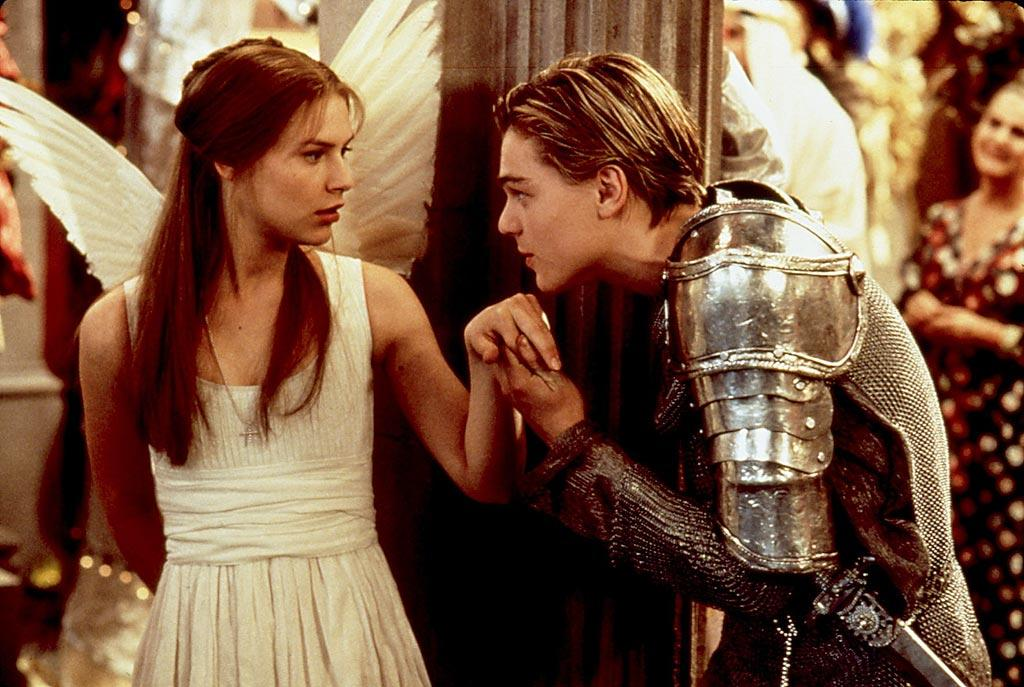 "Our hearts truly stopped for a moment when Claire Danes and Leonardo DiCaprio's star-crossed lovers locked eyes through the fish tank in Baz Luhrmann's ""Romeo + Juliet."" We didn't always know exactly what the two were saying -- the film kept the dialogue of Shakespeare's 400-year-old play -- yet we understood enough to agree when Romeo uttered the line, ""I never saw true beauty 'til this night."" 20th Century Fox/courtesy Everett Collection"