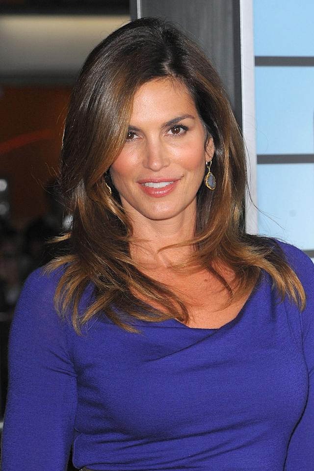 """<a href=""""http://movies.yahoo.com/movie/contributor/1800172527"""">Cindy Crawford</a> at the Los Angeles premiere of <a href=""""http://movies.yahoo.com/movie/1810062520/info"""">Up in the Air</a> - 11/30/2009"""
