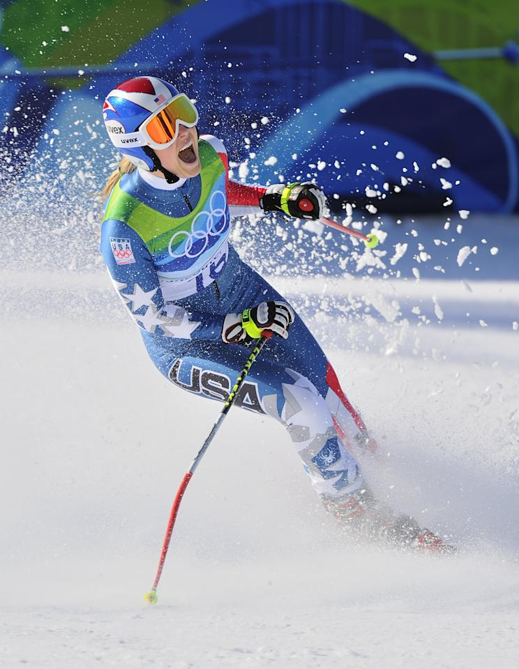 """<p>Lindsey Vonn is widely regarded one of the best skiers in history, but it wasn't until 2010 that her status shot to Olympic proportions. She won gold in the downhill, becoming the first American woman to do so, and went on to dominate the women's skiing circuit for the rest of the decade. <a href=""""https://www.popsugar.com/fitness/Lindsey-Vonn-Recovering-From-LCL-Surgery-46410305"""" class=""""ga-track"""" data-ga-category=""""Related"""" data-ga-label=""""https://www.popsugar.com/fitness/Lindsey-Vonn-Recovering-From-LCL-Surgery-46410305"""" data-ga-action=""""In-Line Links"""">She retired this year</a> with 82 World Cup victories to her name, the most of any female Alpine skier.</p>"""