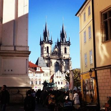 A peek at a church in Prague. (#NickInEurope)