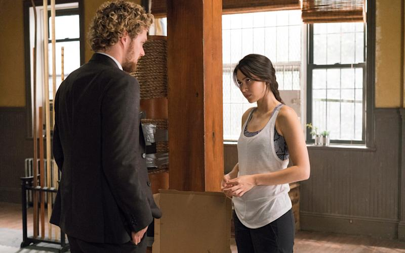 Finn Jones and Jessica Henwick in Marvel's Iron Fist - Credit: Netflix