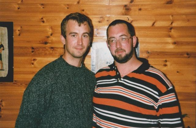 Brothers David and Mike Haines in the late 1990s