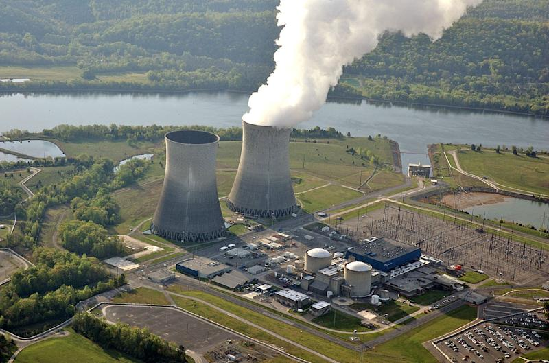 FILE - This April 2007 photograph, released by the Tennessee Valley Authority, shows the cooling tower of the single operating reactor at the Watts Bar Nuclear Plant in Spring City, Tenn. It's a political role reversal: Republicans are blasting a plan by President Barack Obama to consider selling the Tennessee Valley Authority, a New Deal-era agency long targeted by conservatives as an example of government overreach. (AP Photo/Tennessee Valley Authority)