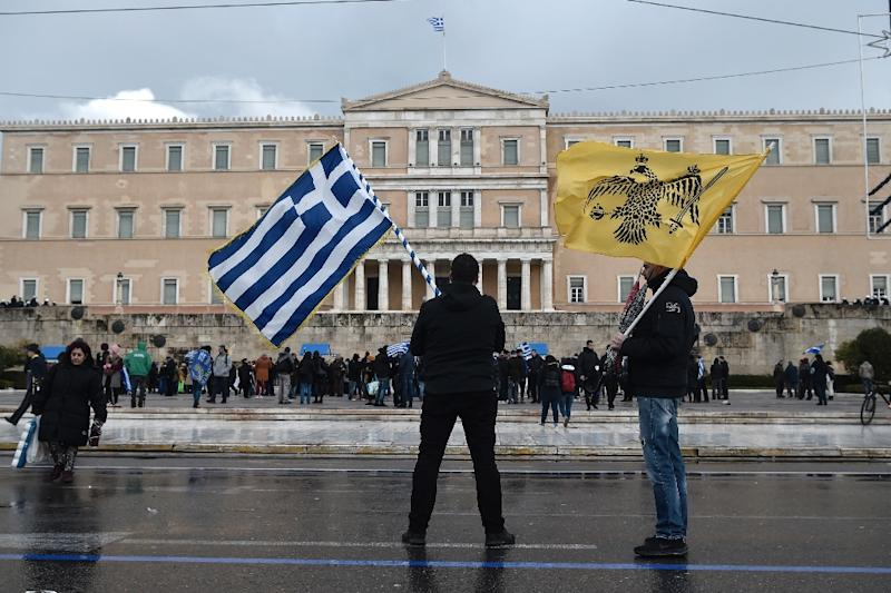 Since 1991, Athens has objected to its neighbour being called Macedonia because Greece has a northern province of the same name (AFP Photo/LOUISA GOULIAMAKI)