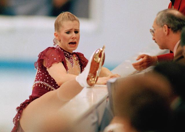 <p>After barely getting onto the ice on time, Harding attempted just one jump before tearfully skating over to the judges in the middle of her free skate to show them that the lace on her right boot was broken. She was allowed to fix it and returned to perform at the end of the group, but her skate was underwhelming. </p>