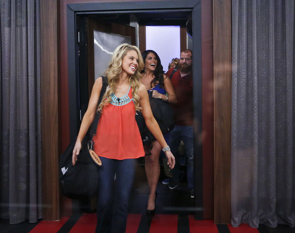 "Aaryn enters the ""Big Brother"" house for the first time."